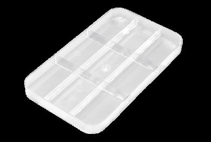 Opbergmaterialen - ST-0007 inleg  9-vaks  kunststof  voor P055