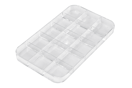 Opbergmaterialen - ST-0008 inleg  15-vaks  kunststof  voor P055