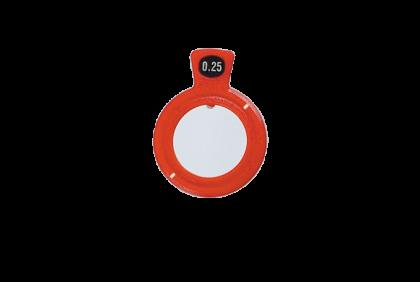 Pasglazen - TR-0028 C-  kunststof vatting  pasglas  45°