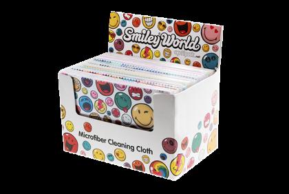 Brildoekjes -  display  smiley world  met 60 microfiber doekjes
