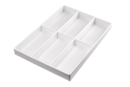 Opbergmaterialen - ST-0014 inleg  6-vaks  kunststof  voor P061/P062/P121