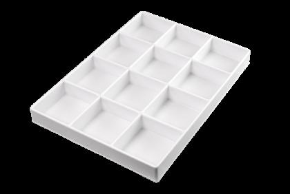 Opbergmaterialen - ST-0016 inleg  12-vaks  kunststof  voor P061/P062/P121