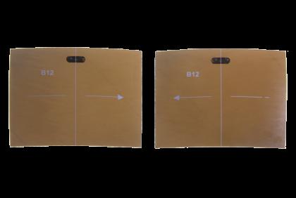 Plano glazen - W133 brillenglazen  bruin  TAC  XL voor Caesar Flip II