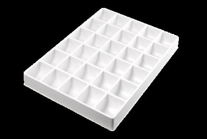 Opbergmaterialen - ST-0019 inleg  30-vaks  kunststof  voor P061/P062/P121