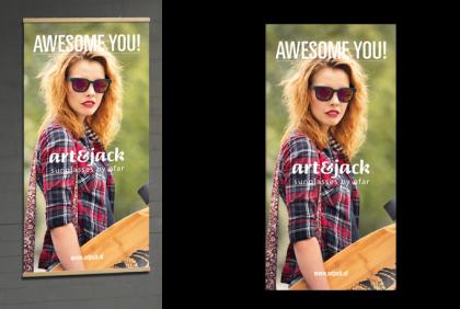 Promotiemateriaal -  Textielbanner  art&jack Skateboard