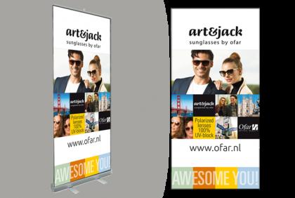 Promotiemateriaal -  Roll-up banner  art&jack 2018