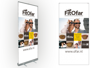 Promotiemateriaal -  Roll-up banner  FitOfar 2018