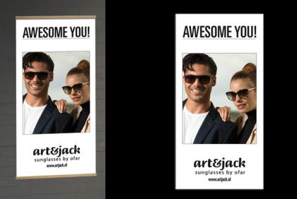 Promotiemateriaal -  Textielbanner  art&jack Duo