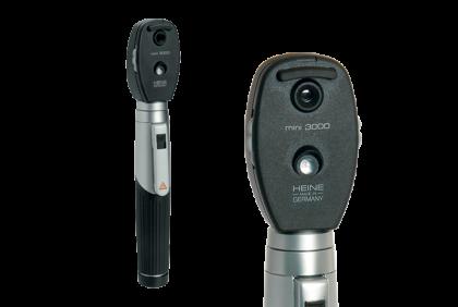 Oogspiegels en skiascopen - U031-4 oogspiegel  Heine  Mini 3000  2,5 V  LED, met accuhandvat