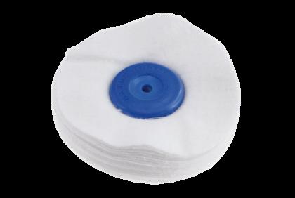 Polijstgereedschap - L021 polijstschijf  flanel  lappenschijf  100 x 40 mm