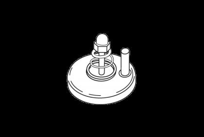 Tangen - M027 vervangschijf en veer  ProfiLine  voor M025