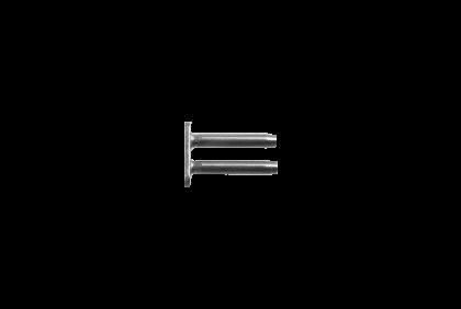 Scharnieren - P077 dubbel  8,0 mm  I-vorm  klinkstift