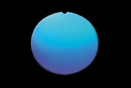 Plano glazen - W011 brillenglazen  CR39  blauw  spiegel
