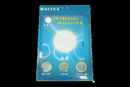 Loepen -  fresnel-loep  Waltex  200 x 260 mm  met frame