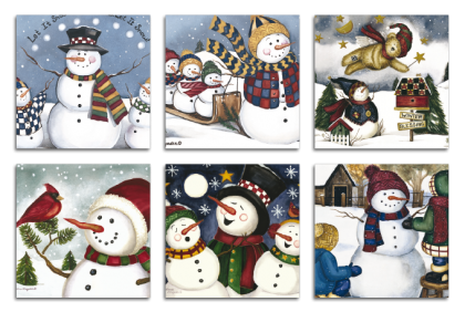 Brildoekjes - CL-0019 microfiber doek  snowman