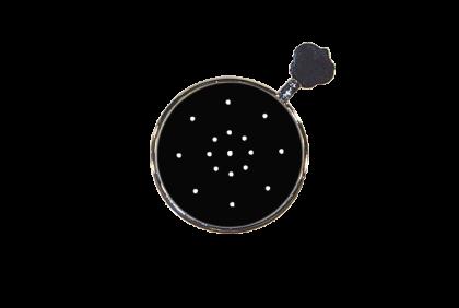 Pasglazen -  metalen vatting  pinhole pasglas  multiple