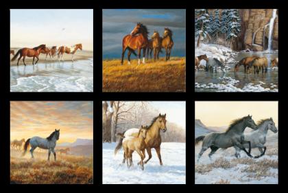Brildoekjes - CL-0022 microfiber doek  wild horses