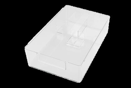 Opbergmaterialen - P056 werkbakje  met separatie  kunststof
