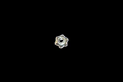 Moeren - D101 ster  moer  2,5 mm  zelfborgend