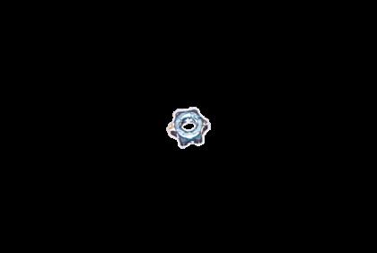 Moeren - D102 ster  moer  2,5 mm  zelfborgend