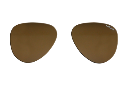 Voorgeslepen brillenglazen -  art&jack  brillenglazen  mineraal glas  bruin  ZO-0018