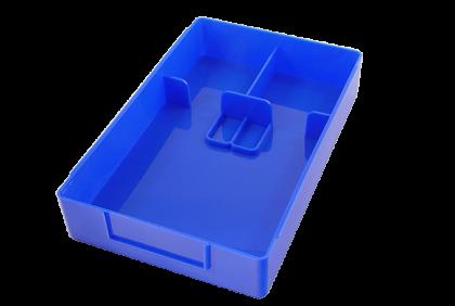 Opbergmaterialen - ST-0003 werkbakje  met separatie  kunststof