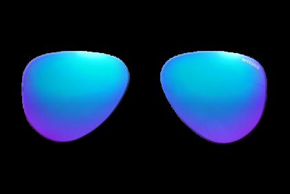 Voorgeslepen brillenglazen -  art&jack  brillenglazen  mineraal glas  blauw  ZO-0018  spiegel