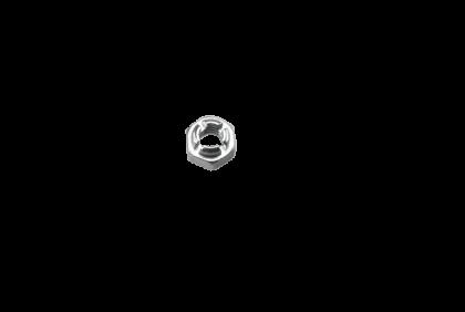 Moeren - D123 zeskant  M1,2  moer  2,5 mm  zelfborgend