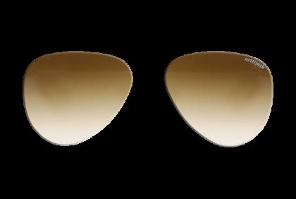 Voorgeslepen brillenglazen -  art&jack  brillenglazen  mineraal glas  bruin  dégradé  ZO-0018