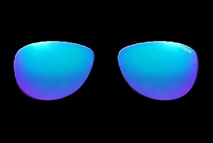 Voorgeslepen brillenglazen -  art&jack  brillenglazen  mineraal glas  blauw  ZO-0019  spiegel