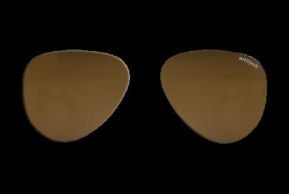 Voorgeslepen brillenglazen -  art&jack  brillenglazen  bruin  gepolariseerd  ZO-0018  TAC