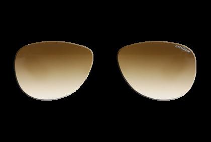 Voorgeslepen brillenglazen -  art&jack  brillenglazen  mineraal glas  bruin  dégradé  ZO-0019
