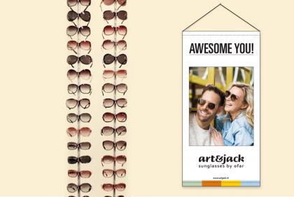 Promotiemateriaal - PM-0016 Textielbanner  art&jack Duo