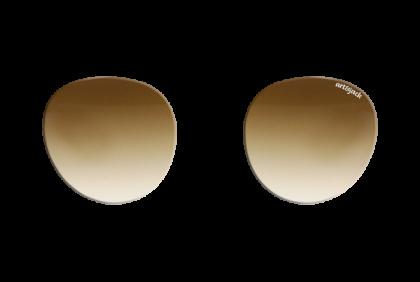 Voorgeslepen brillenglazen -  art&jack  brillenglazen  mineraal glas  bruin  dégradé  ZO-0020