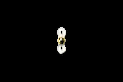 Accessoires - 0119I brilkoordrubber  transparant/goud