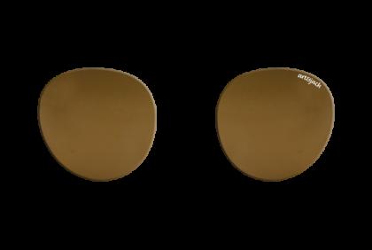 Voorgeslepen brillenglazen -  art&jack  brillenglazen  mineraal glas  bruin  ZO-0020