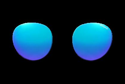 Voorgeslepen brillenglazen -  art&jack  brillenglazen  mineraal glas  blauw  ZO-0020  spiegel