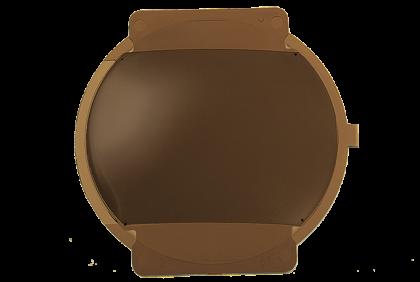 Brillenglazen - W120 brillenglazen  polycarbonaat  bruin