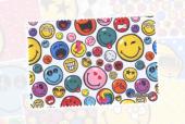 CL-0058 microfiber doek  smiley world