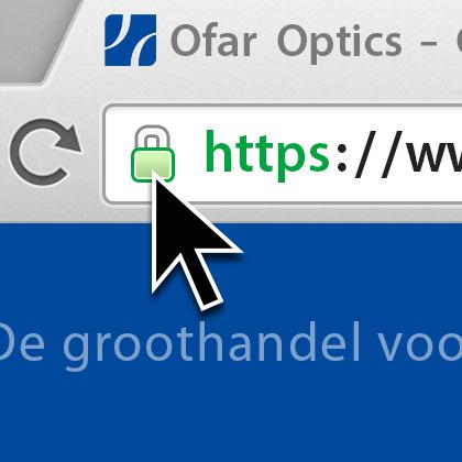 Een veilige https verbinding is herkenbaar aan het slotje